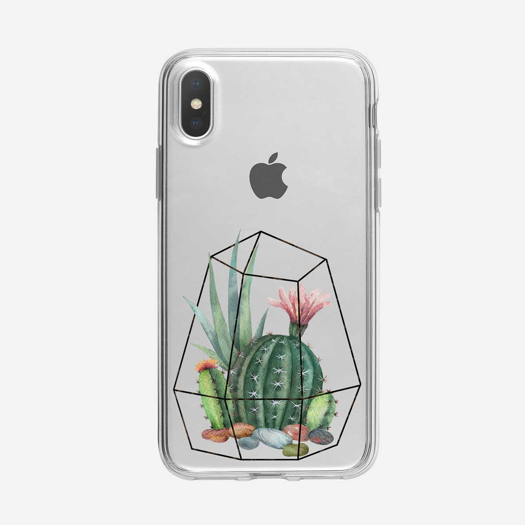 Cactus Poly Clear iPhone Case from Tiny Quail