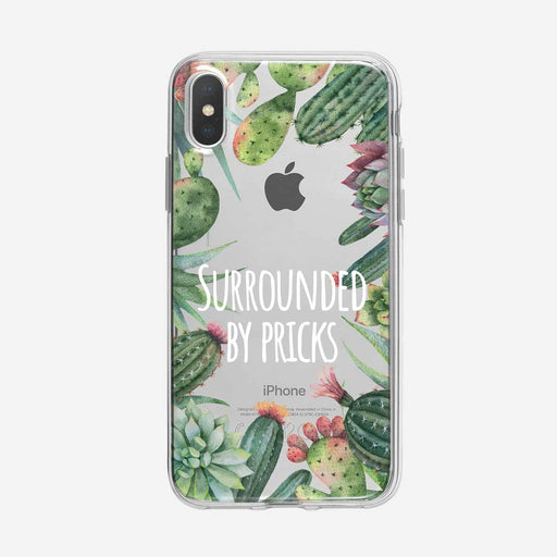 Surrounded by Pricks Cactus Clear iPhone Case from Tiny Quail