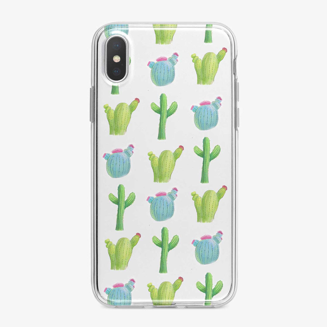 Watercolor Cactus Designer iPhone Case From Tiny Quail