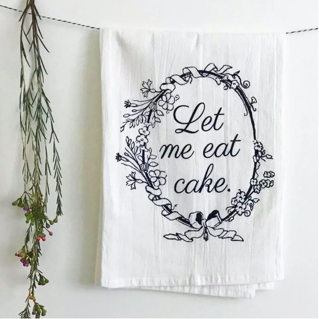Let Me Eat Cake Funny Kitchen Towel From The Coin Laundry