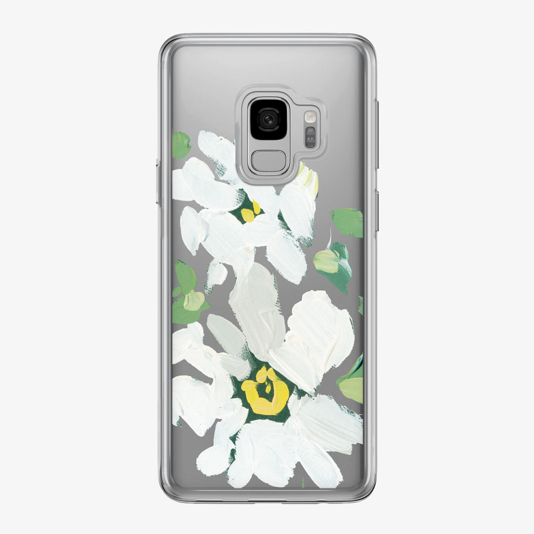 Canvas White Daisies Samsung Galaxy Phone Case from Tiny Quail