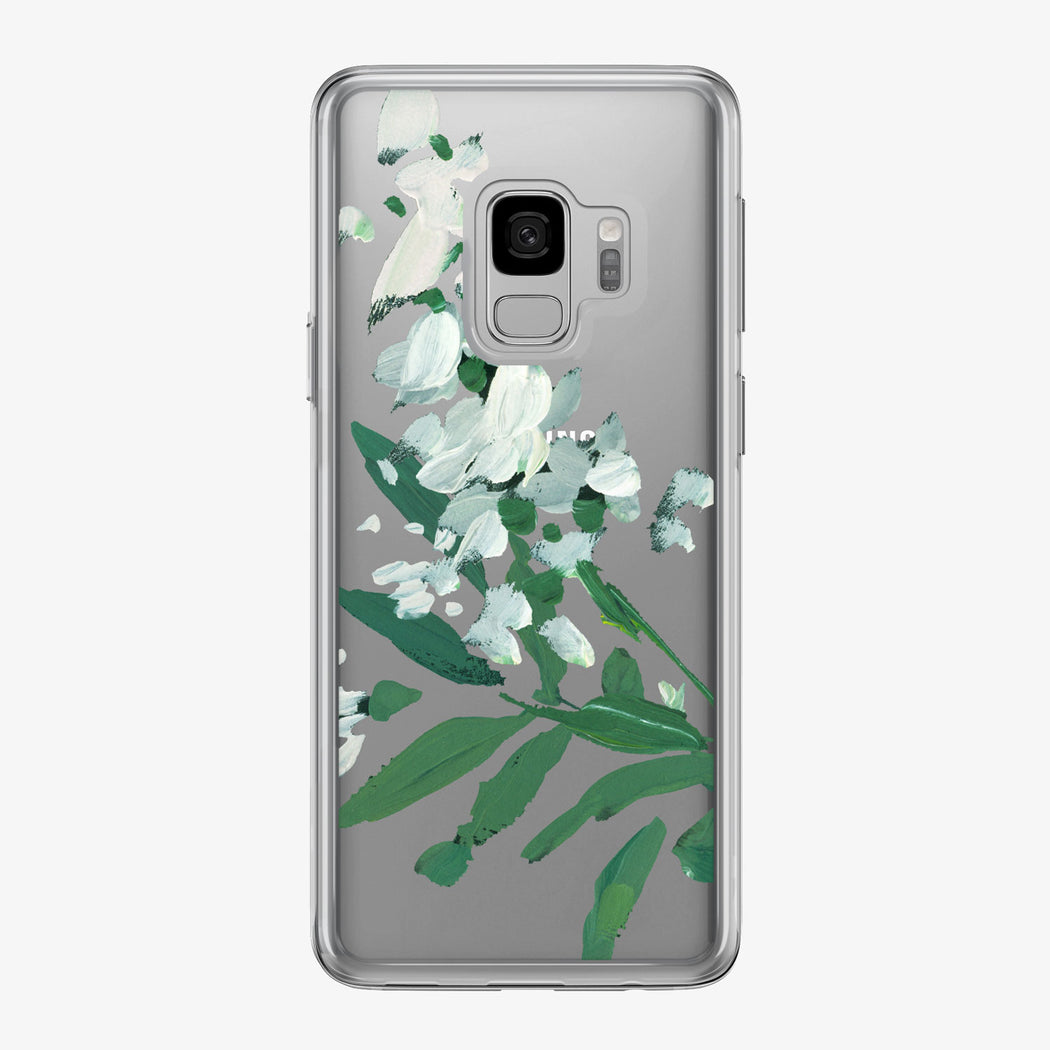 Canvas White Flowers Branch Samsung Galaxy Phone Case from Tiny Quail