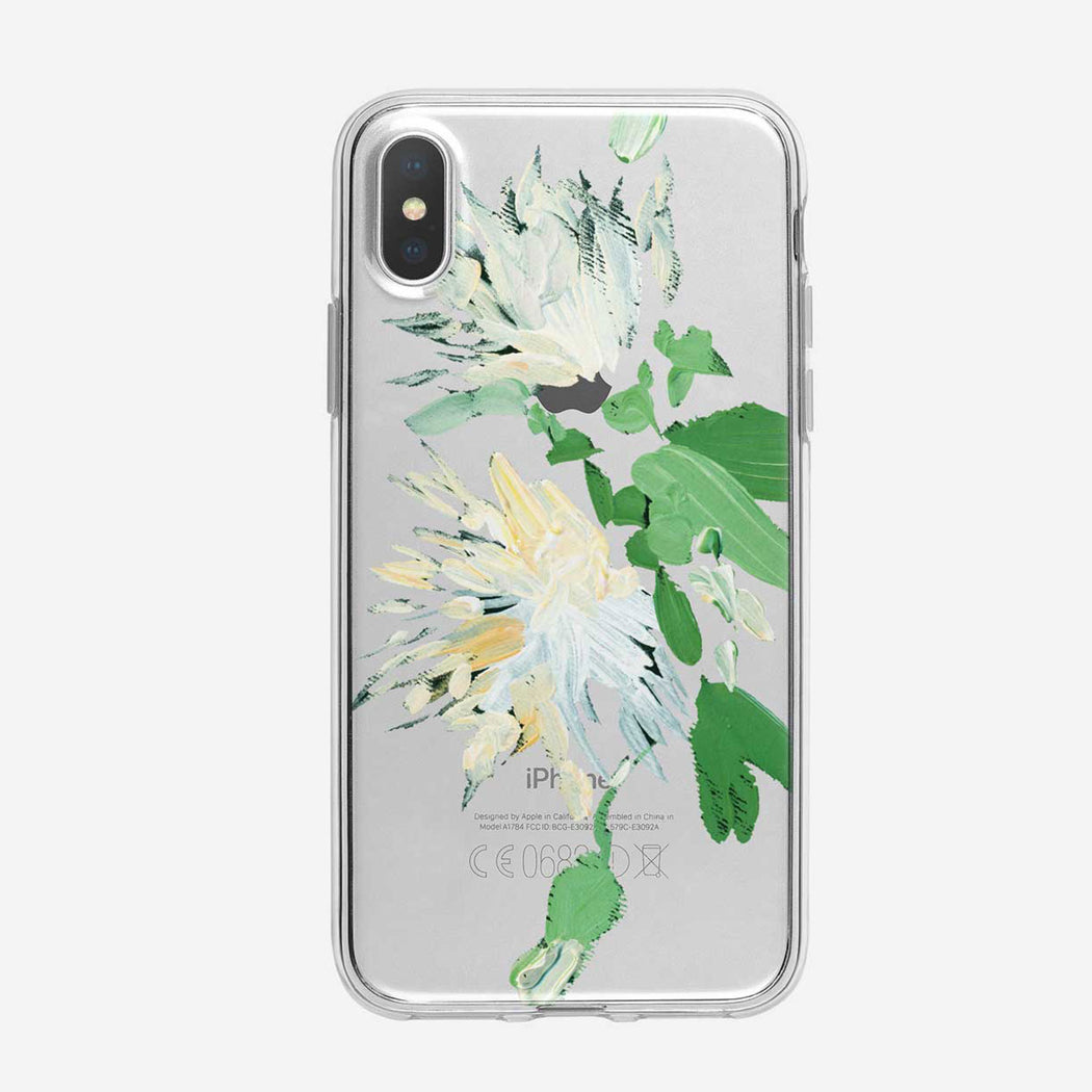 Canvas White Mums iPhone Case from Tiny Quail