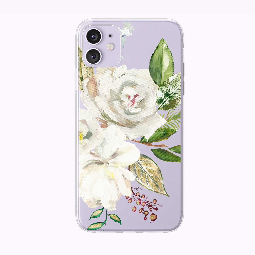 Rose Bouquet Oil Painting  iPhone Case from Tiny Quail