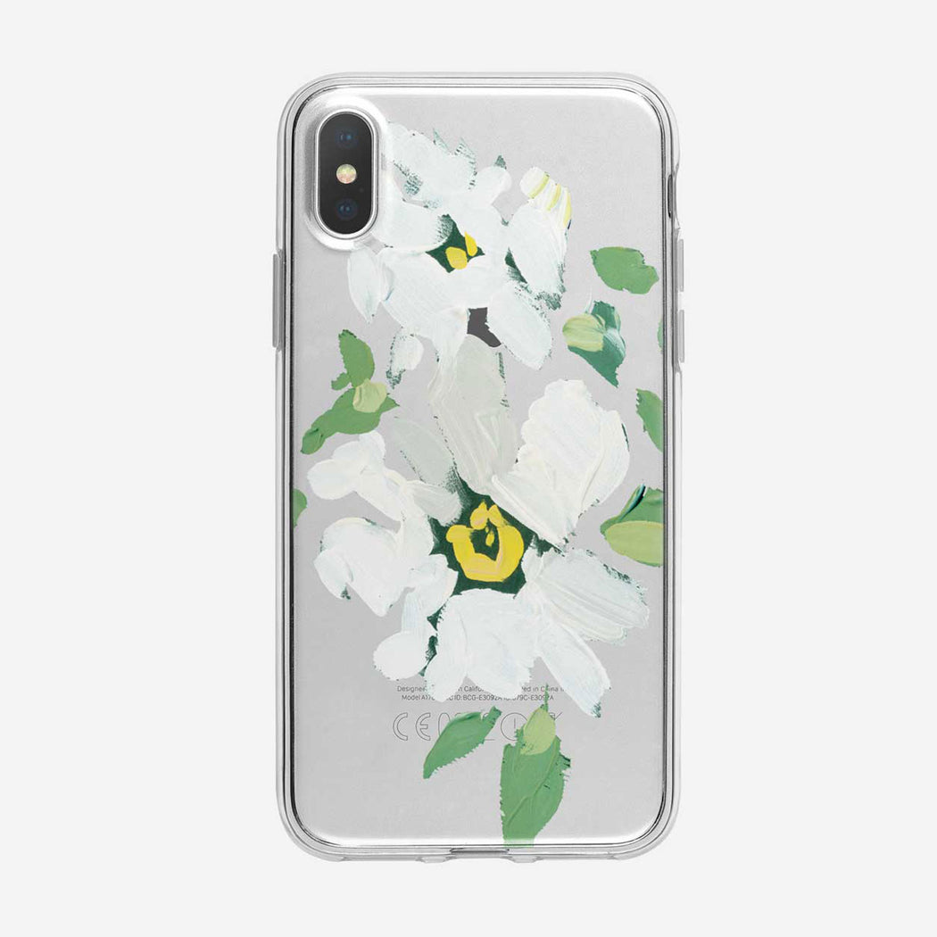 Canvas White Daisies iPhone Case by Tiny Quail
