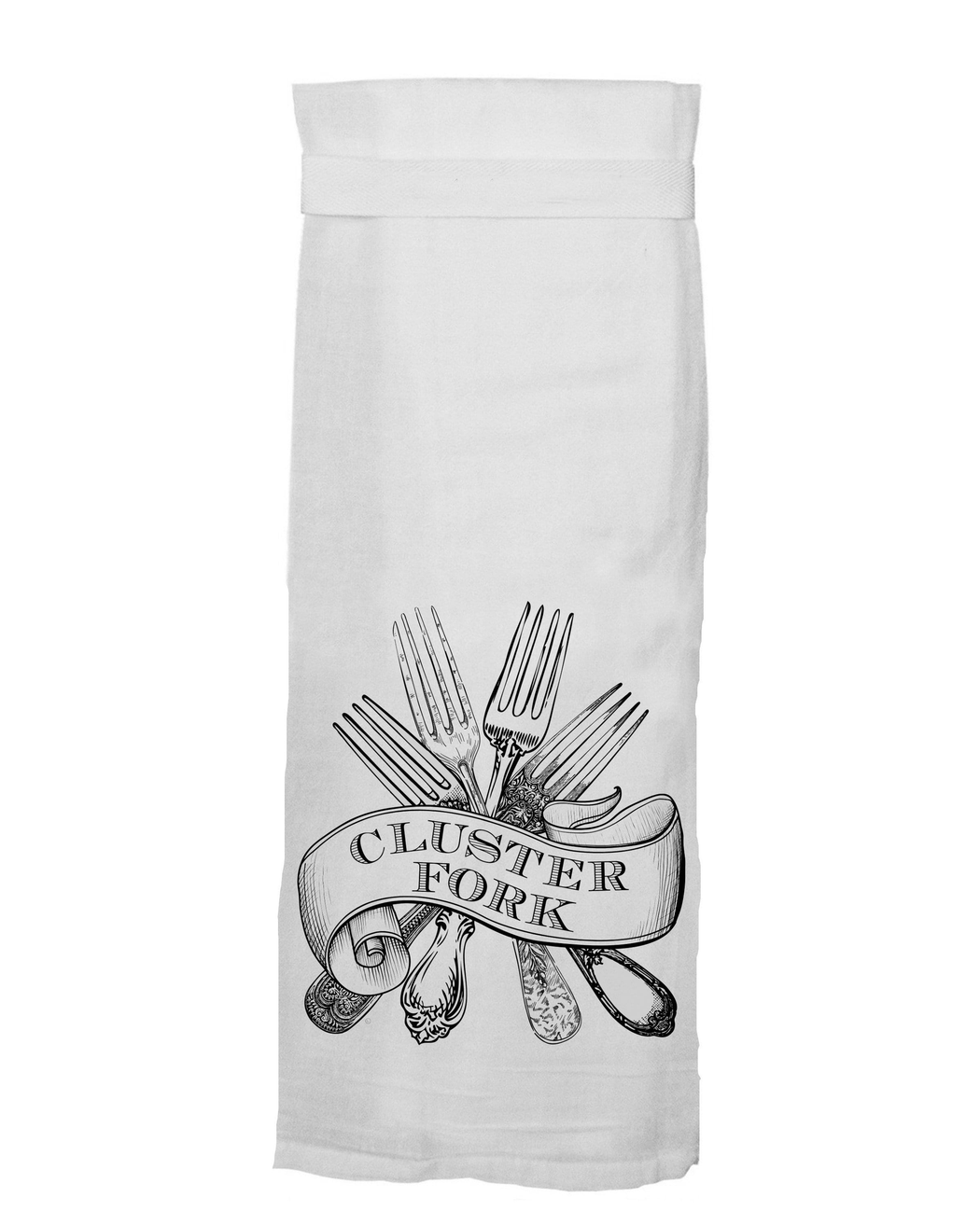 Cluster Fork Funny Kitchen Towel From Twisted Wares