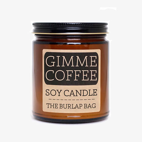 Gimme Coffee Soy Candle 9oz By The Burlap Bag - Tiny Quail