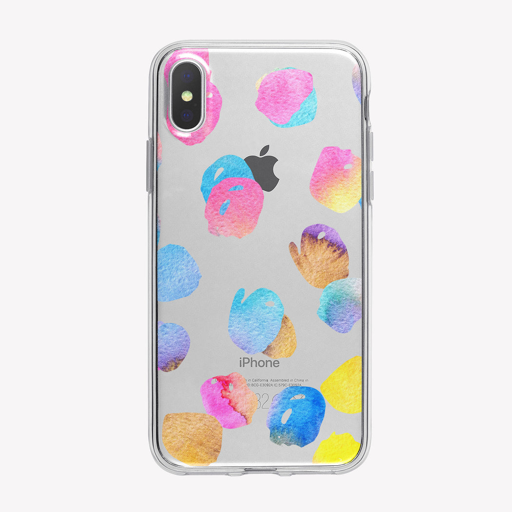 Pastel Colors Pattern Clear iPhone Case from Tiny Quail