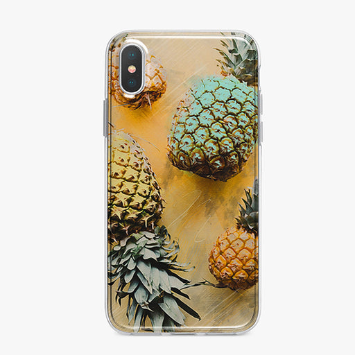 Colorful Pineapples iPhone Case by Tiny Quail