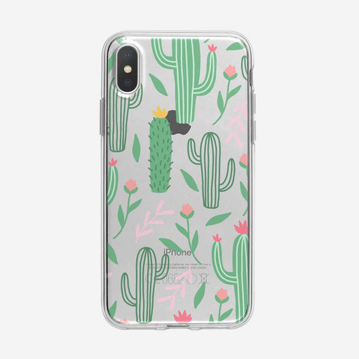 Colorful Cactus Flower Pattern Clear iPhone Case from Tiny Quail