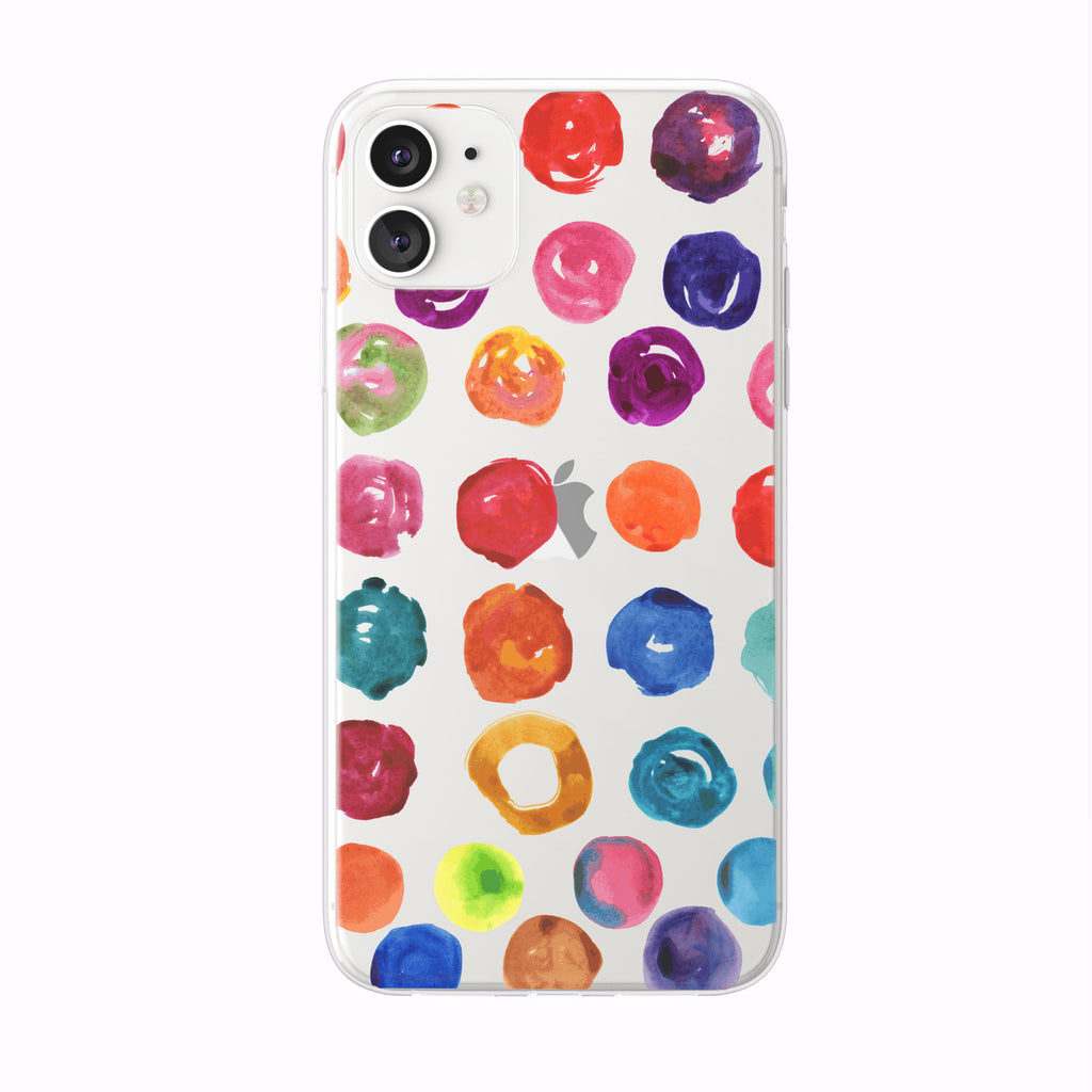 Colorful Watercolor Circles iPhone Case from Tiny Quail