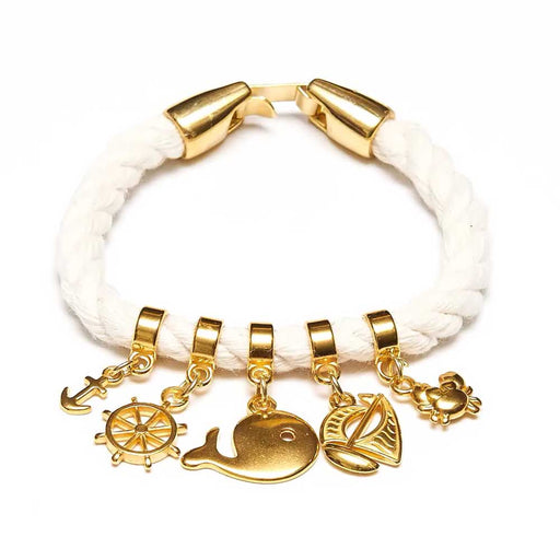 Cotuit Bracelet Ivory/Gold by Allison Cole Jewelry