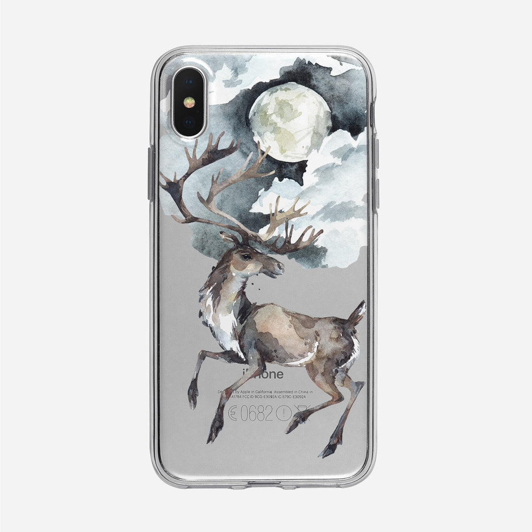 Dancing Moonlit Deer iPhone Case from Tiny Quail