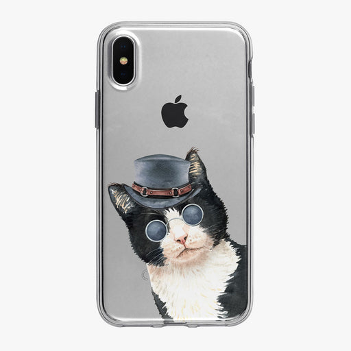 Cat Philosophy Peeking Dapper Kitty iPhone Case from Tiny Quail