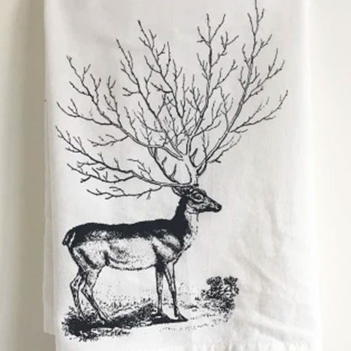 Deer Tree Cotton Kitchen Towel - From The Coin Laundry