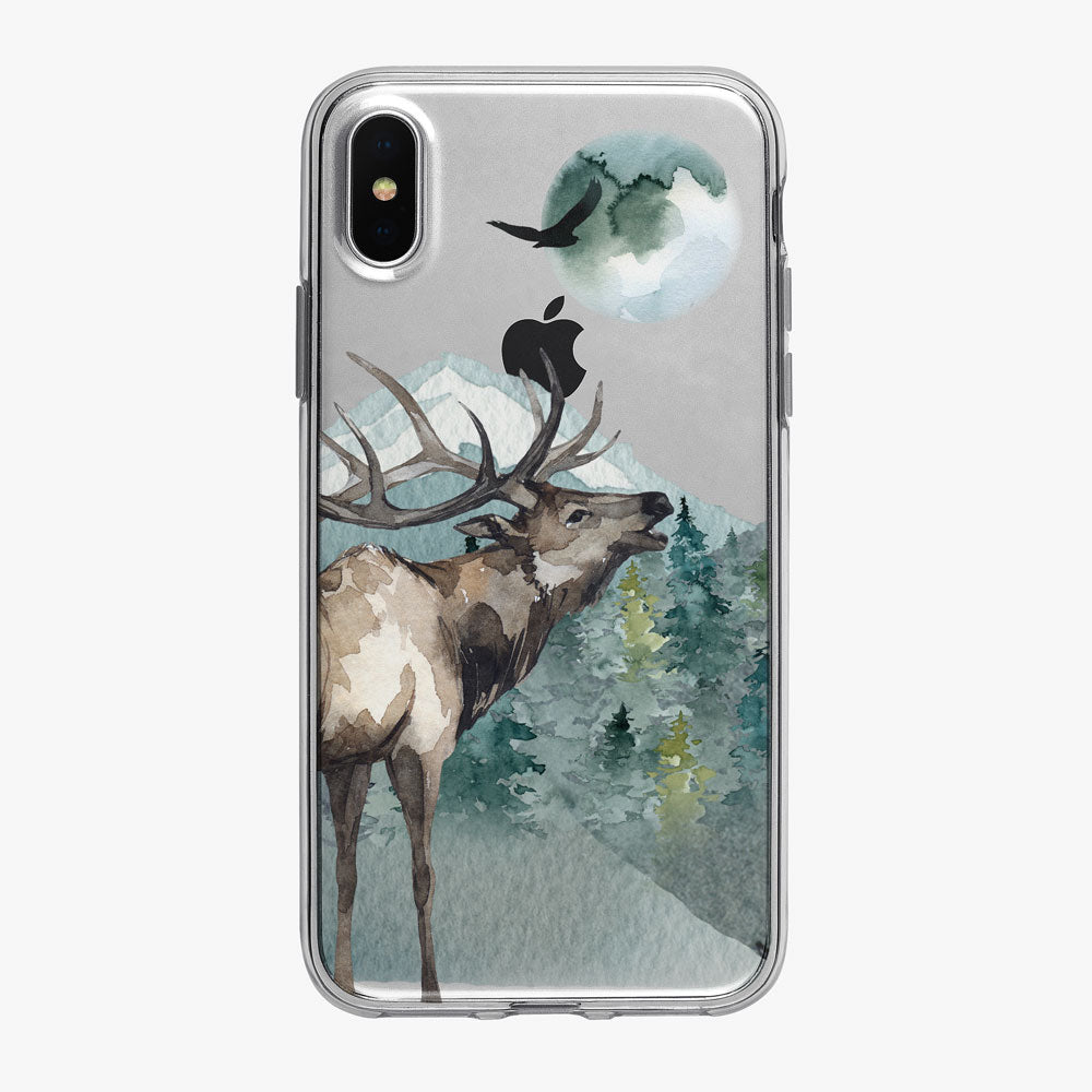 Majestic Antlered Buck Clear iPhone Case from Tiny Quail