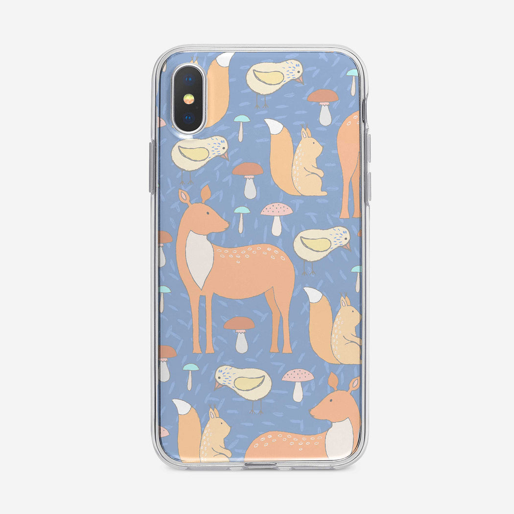 Cute Forest Animal Pattern iPhone Case from Tiny Quail