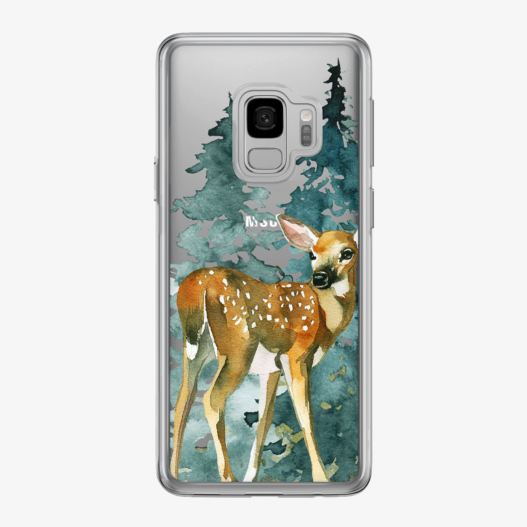 Woodsy Baby Deer Clear Samsung Galaxy Phone Case From Tiny Quail