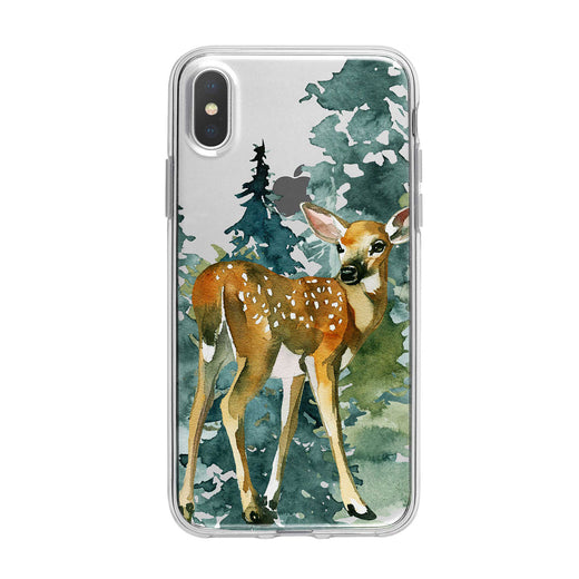 Woodsy Baby Deer Clear iPhone Case From Tiny Quail