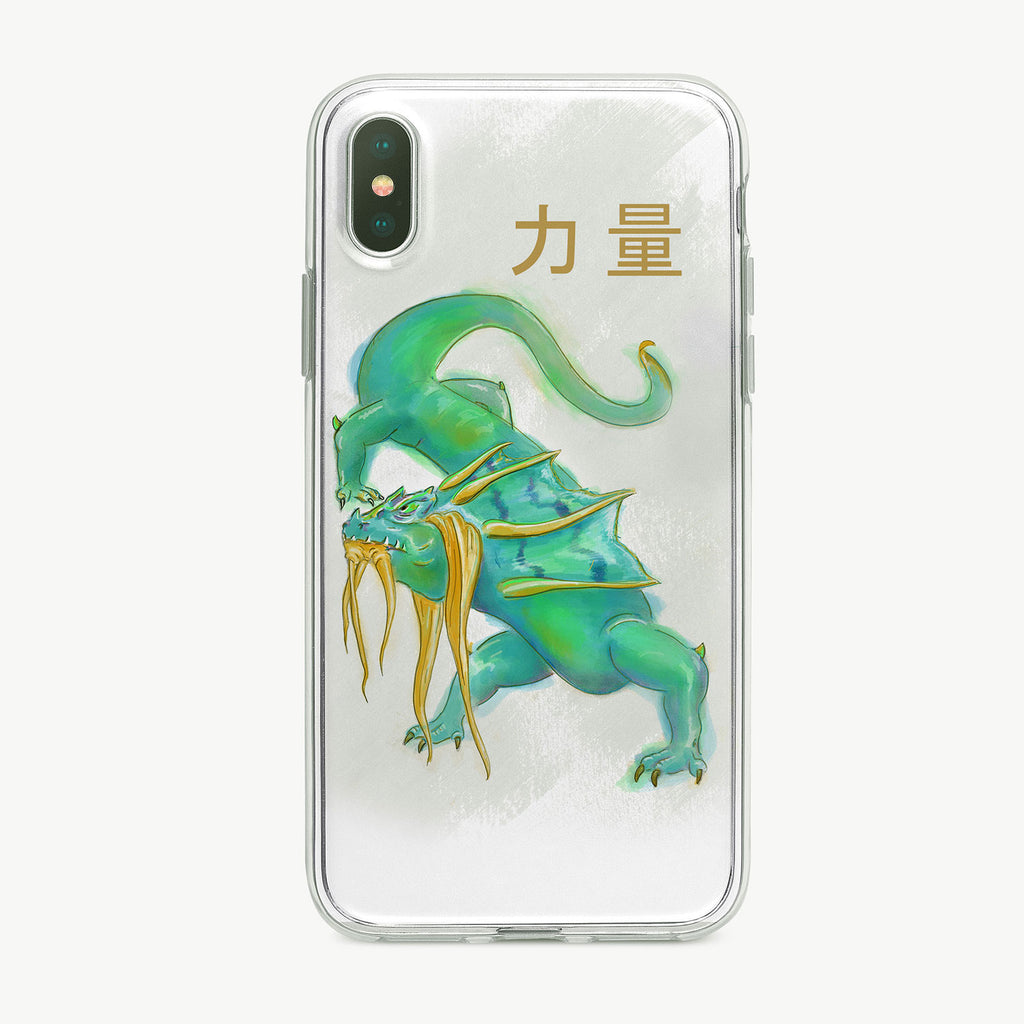 Blue and Green Dragon iPhone Case by Tiny Quail