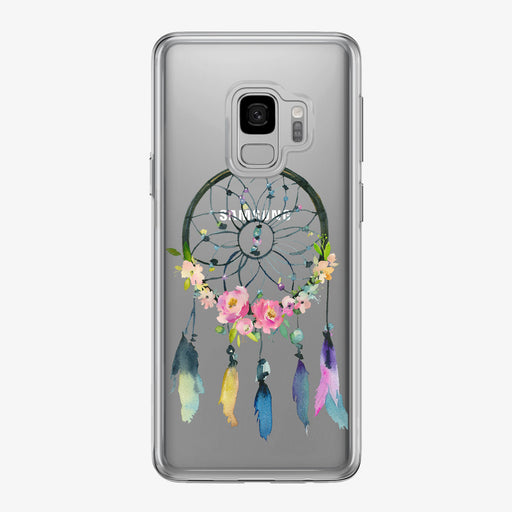 Floral Boho Dreamcatcher Clear Samsung Galaxy Phone Case from Tiny Quail