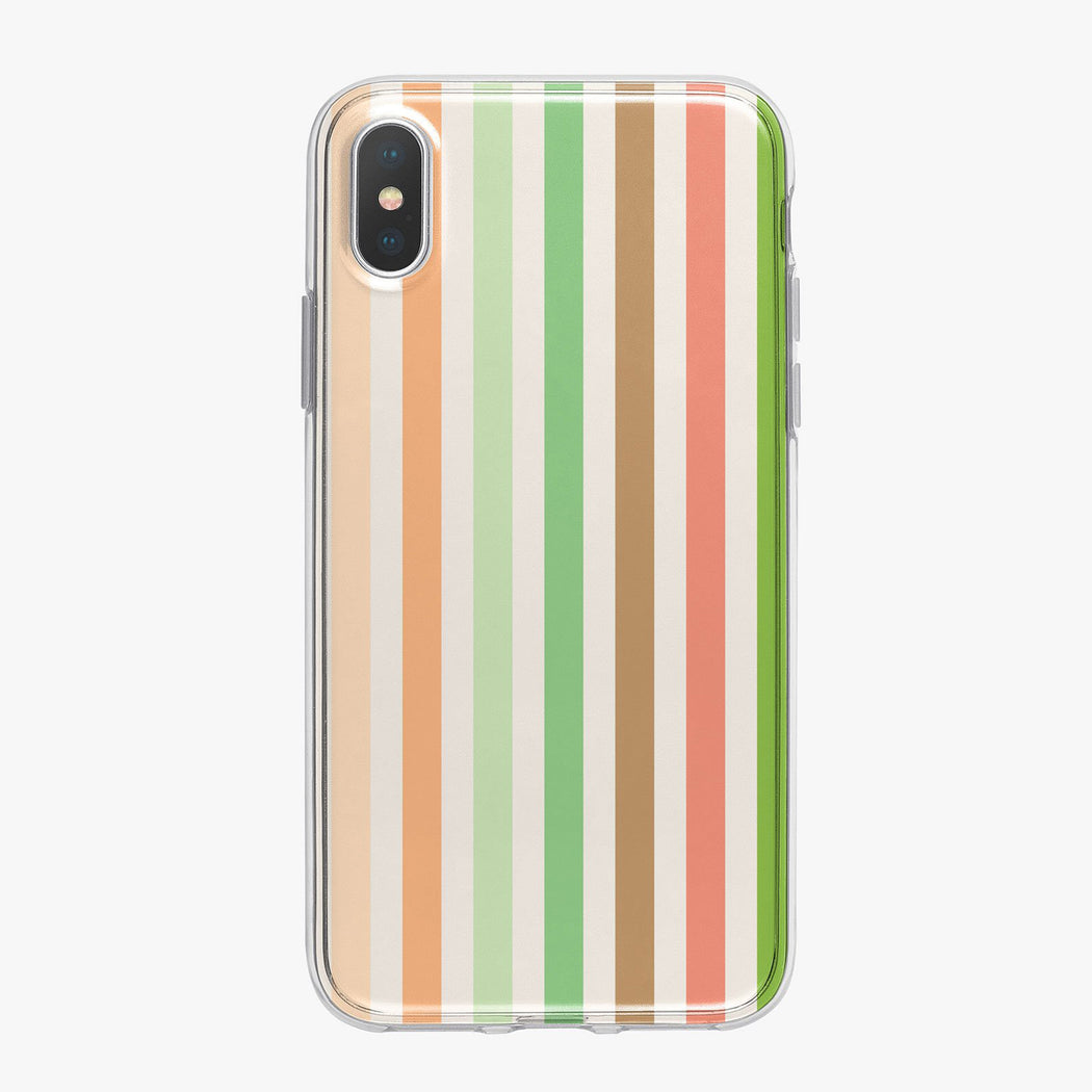 Earth Toned Striped Designer iPhone Case From Tiny Quail