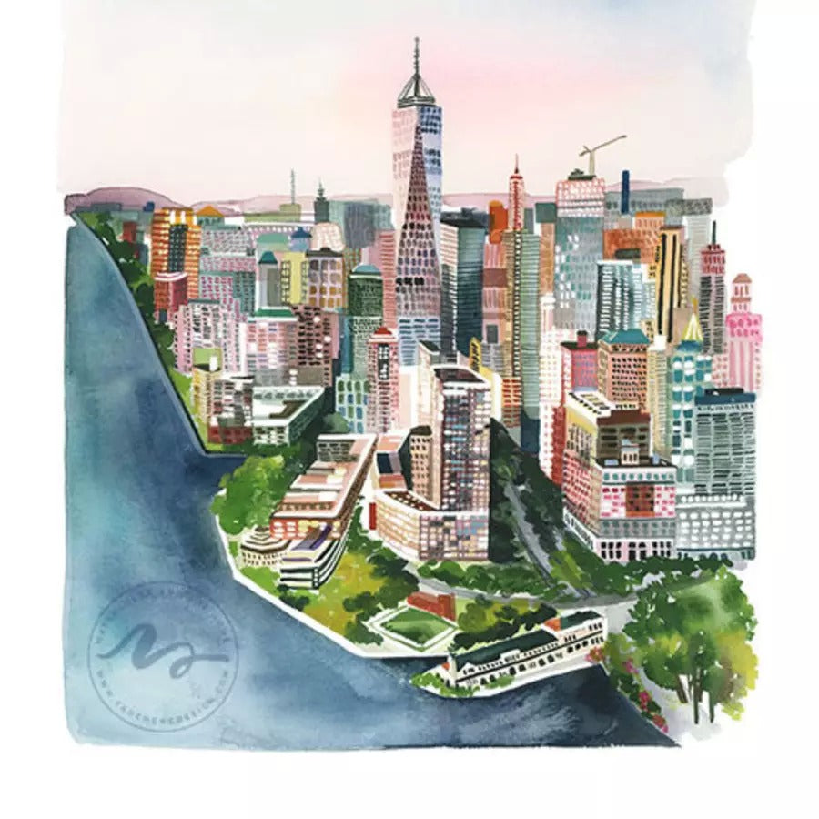 New York Archival Wall Art Print by Yao Cheng Design without frame