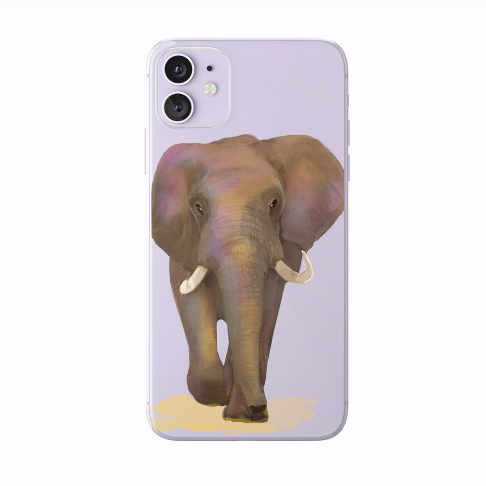 Colorful Watercolor Elephant iPhone Case by Tiny Quail