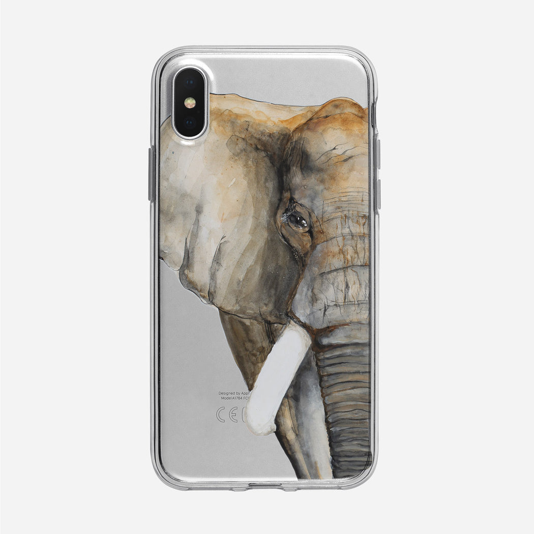 Half Elephant Face iPhone Case from Tiny Quail