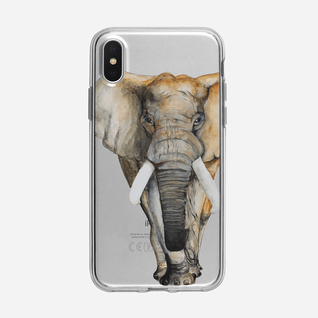 Watercolor Elephant iPhone Case from Tiny Quail