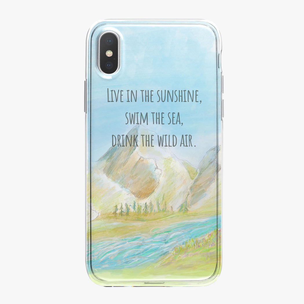 Mountain Adventure Designer iPhone Case with saying from Tiny Quail