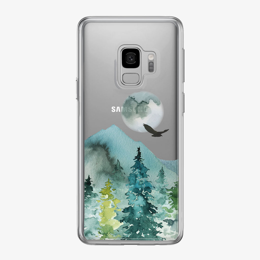 Evening Mountain Forest Samsung Galaxy Phone Case from Tiny Quail