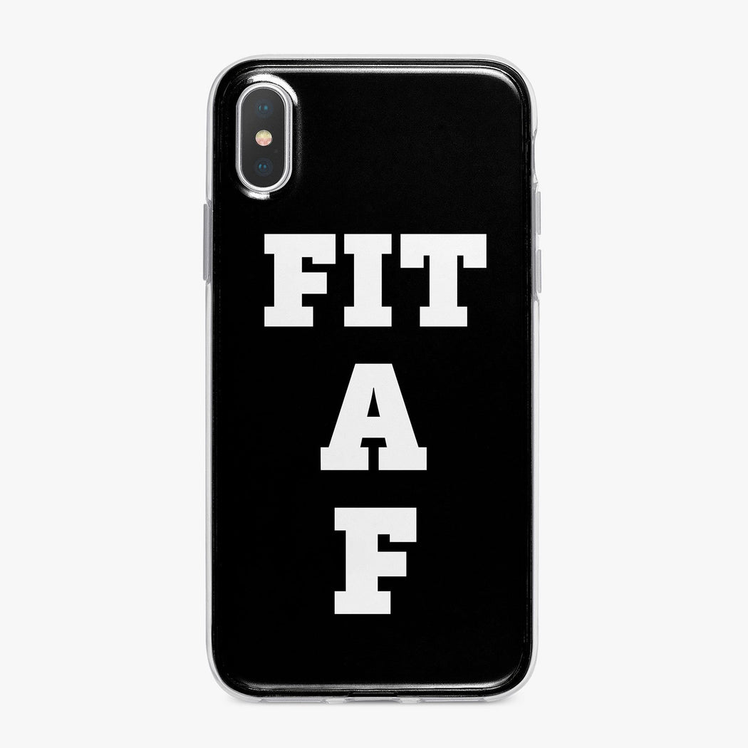 Fit A F Black Designer Fitness iPhone Case