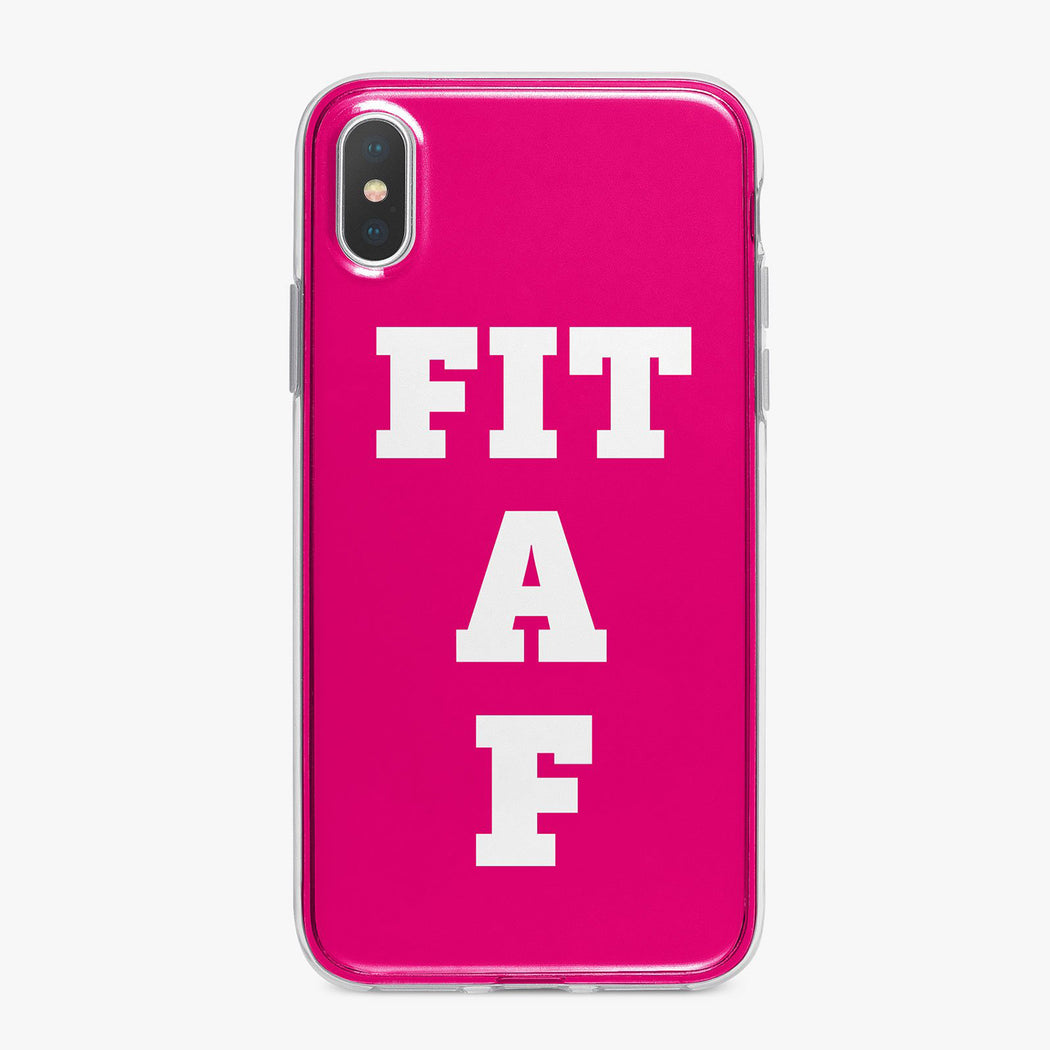 Fit A F Pink Designer Fitness iPhone Case