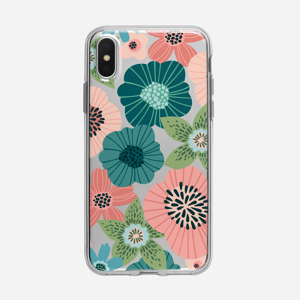 Flat Floral Graphic Pattern iPhone Case From Tiny Quail