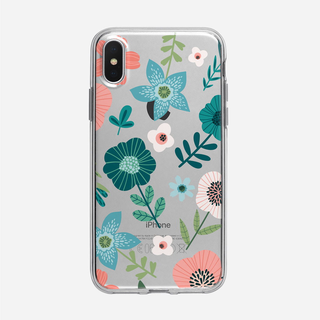 Flat Graphic Floral iPhone Case From Tiny Quail
