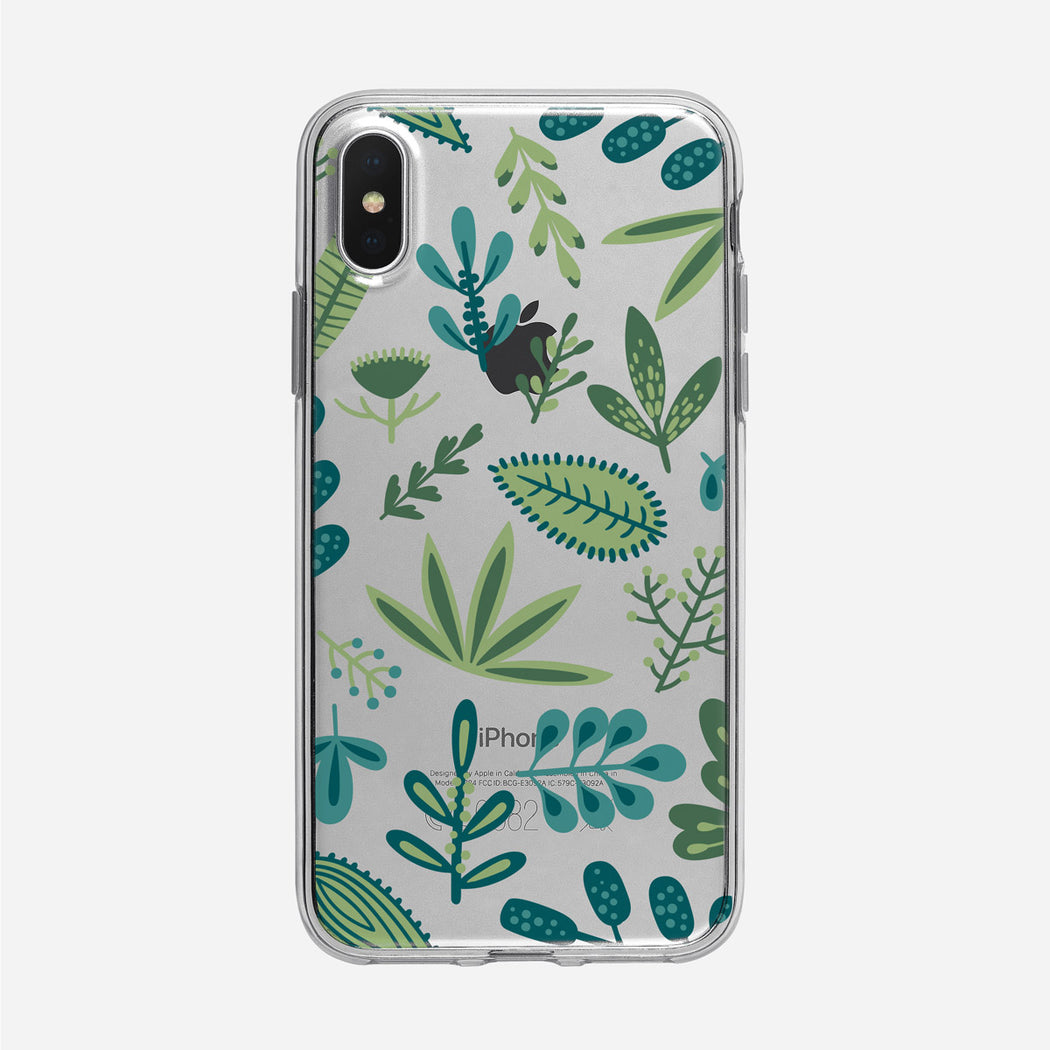 Flat Graphic Leaves iPhone Case From Tiny Quail