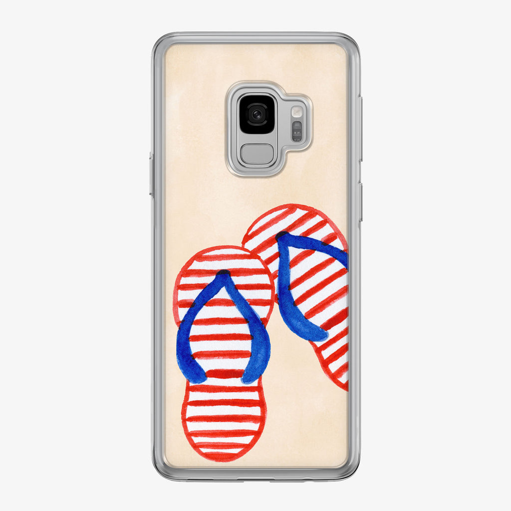 Patriotic Flip-Flops Samsung Galaxy Phone Case by Tiny Quail