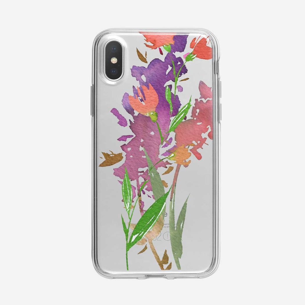 Floral Collage 2 Clear iPhone Case From Tiny Quail