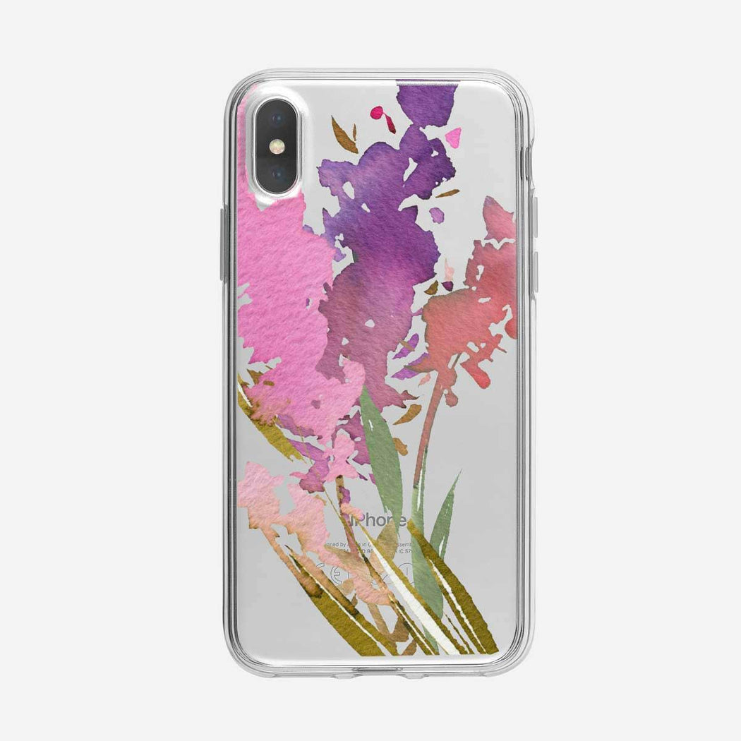 Floral Collage Clear iPhone Case From Tiny Quail