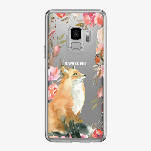 Majestic Floral Fox Samsung Galaxy Phone Case from Tiny Quail