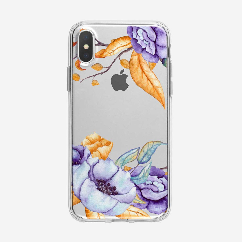 Watercolor Fall Floral iPhone Case From Tiny Quail