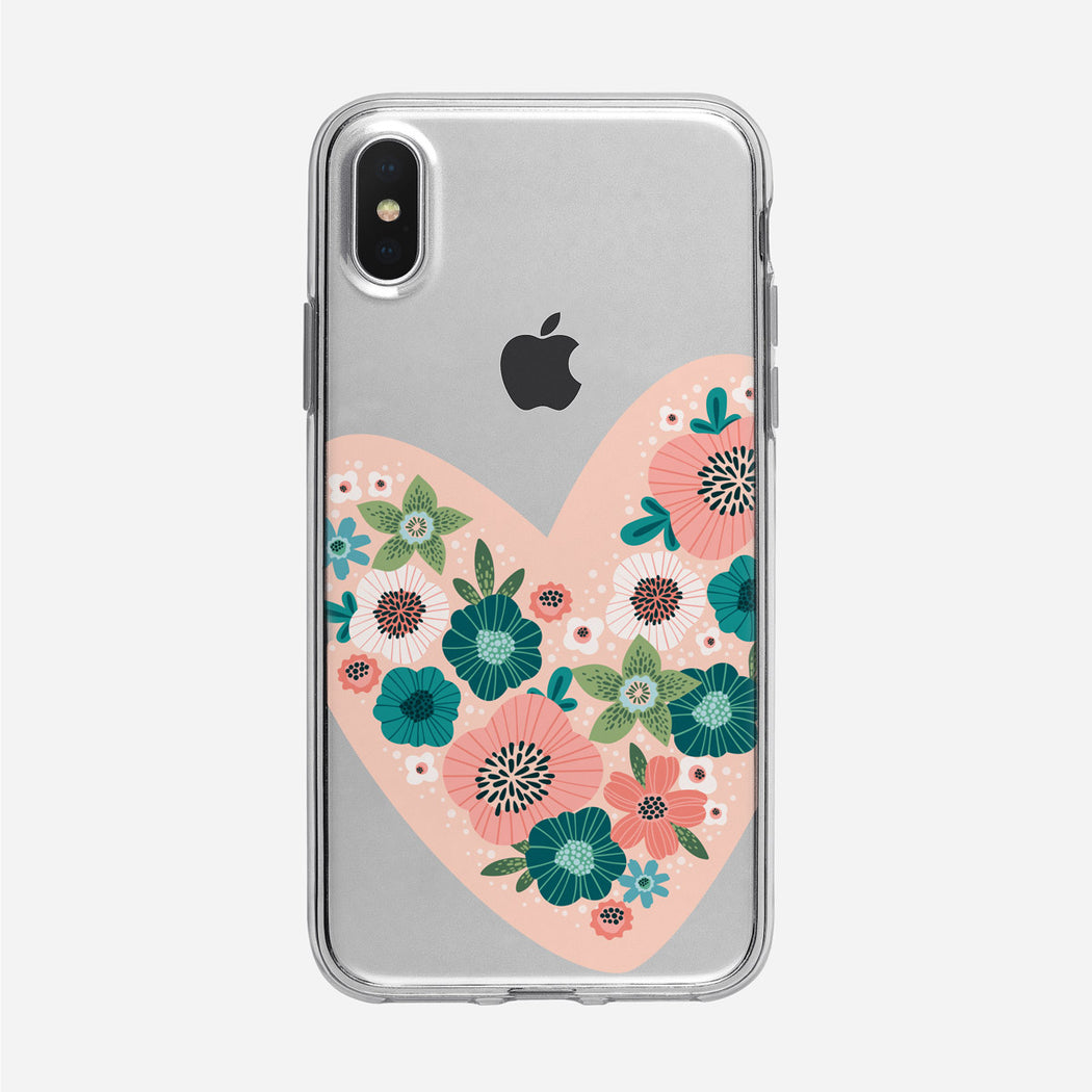 Floral Heart iPhone Case From Tiny Quail