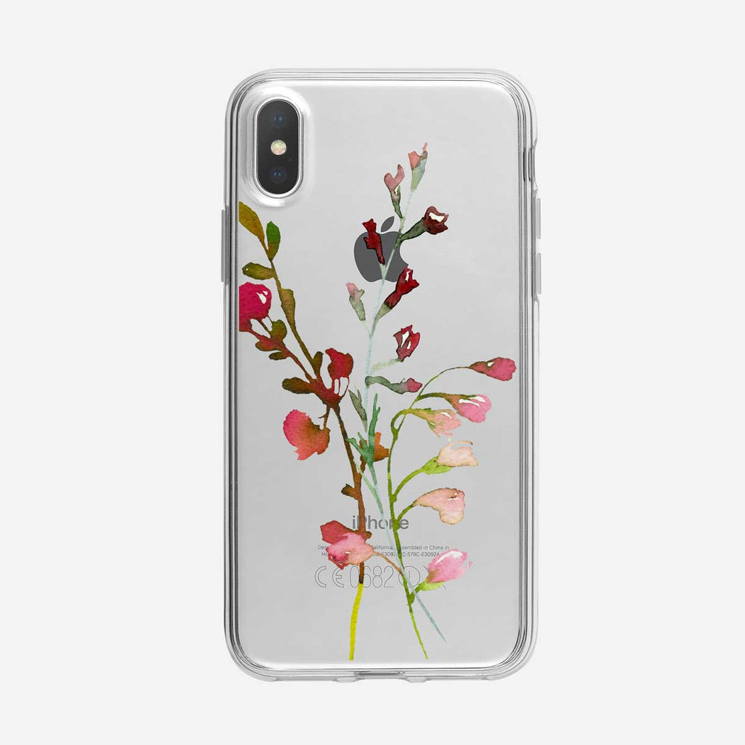 Soft Floral Stems iPhone Case From Tiny Quail