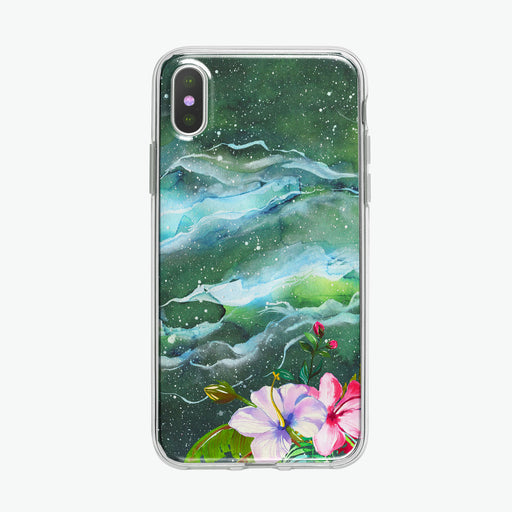 Flowers in Space iPhone Case by Tiny Quail