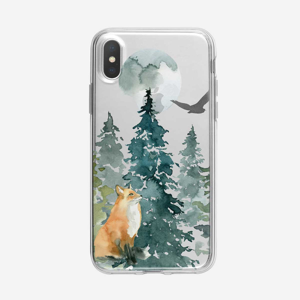 Majestic Forest Fox iPhone Case from Tiny Quail