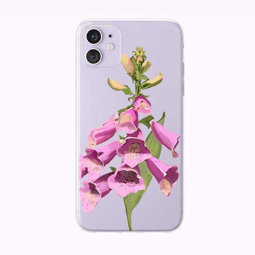 Pink Foxgloves iPhone Case by Tiny Quail