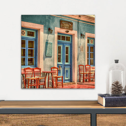 Colorful Paris Houses Glass Wall Art From Tiny Quail