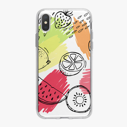 Graphic Summer Fruit iPhone Case by Tiny Quail
