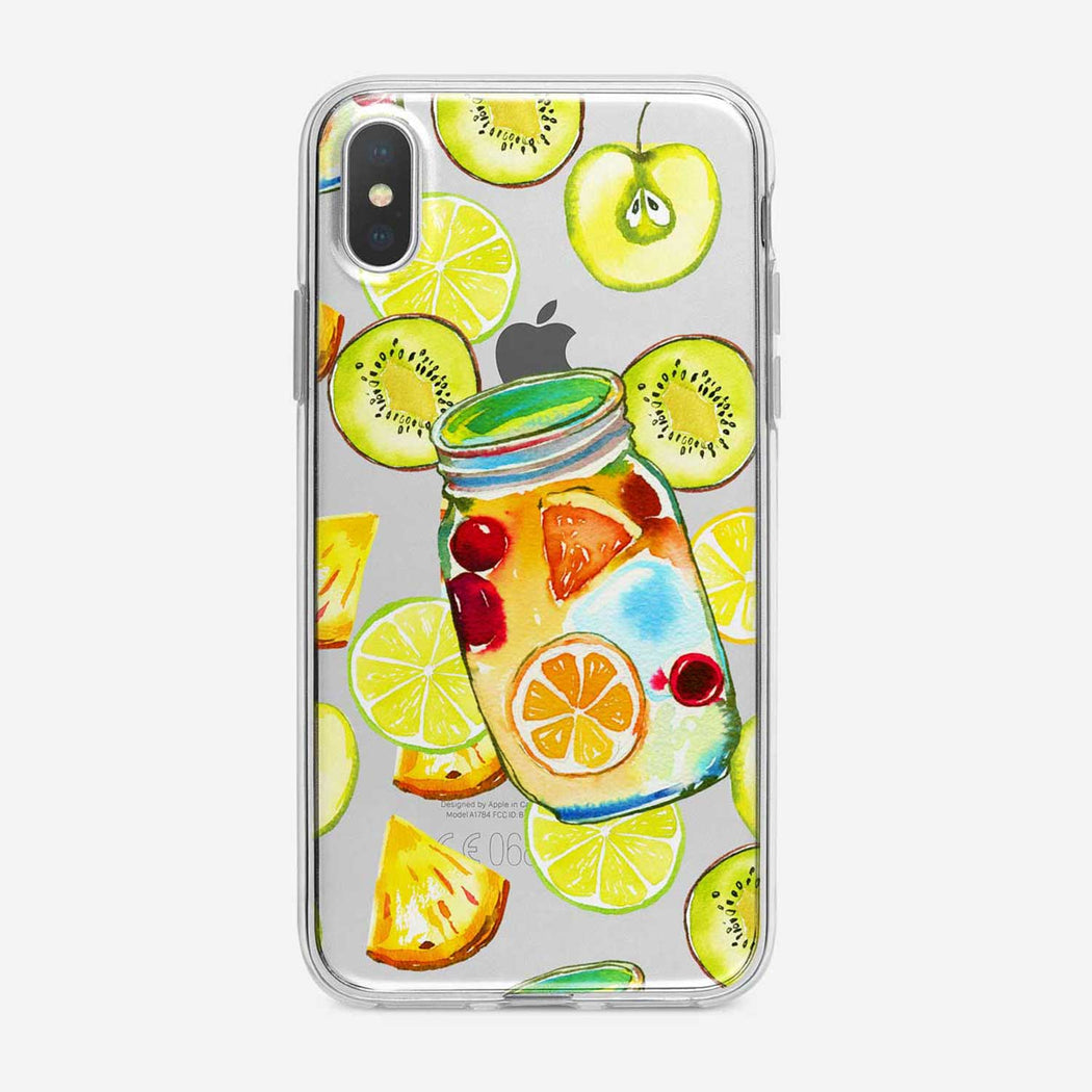 Sweet Fruit Jar Clear iPhone Case from Tiny Quail
